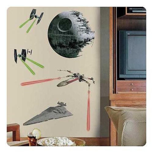 Star Wars Classic Ships Giant Wall Decal