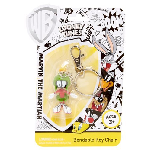 Looney Tunes Marvin the Martian Bendable Key Chain