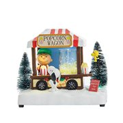 Peanuts Popcorn Wagon Musical LED Light-Up 7-Inch Tablepiece