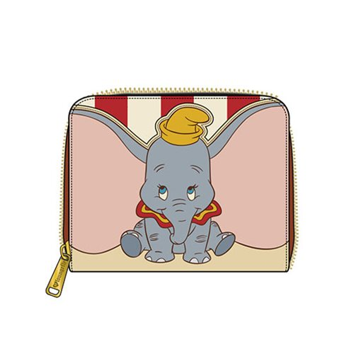 Dumbo Stripes Zip-Around Mini Wallet