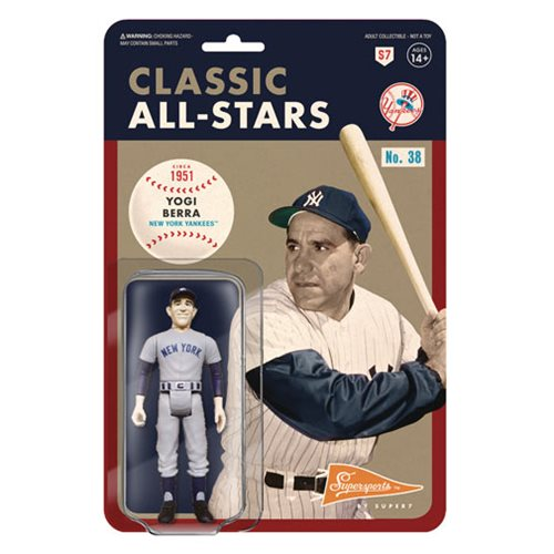 Major League Baseball Classic Yogi Berra (Catcher, New York Yankees) ReAction Figure