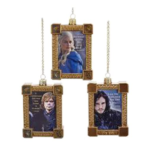 Game of Thrones Framed Portrait Ornament Set