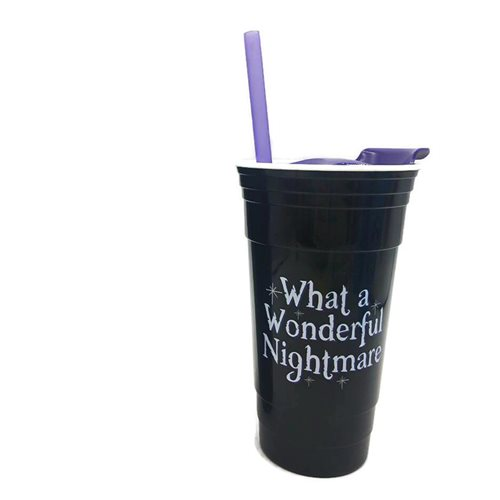 Nightmare Before Christmas What a Wonderful Nightmare 32oz Plastic Party Cup with Lid and Straw