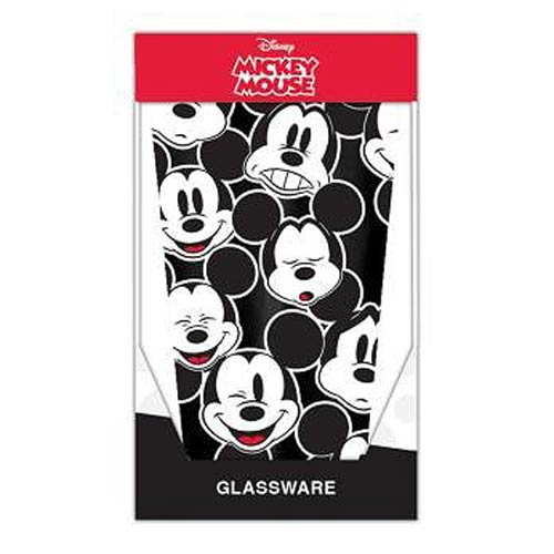 Mickey Mouse Faces 16 oz. Pint Glass