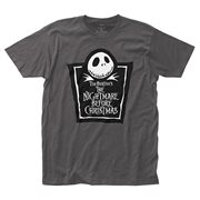 Nightmare Before Christmas Tombstone Logo T-Shirt