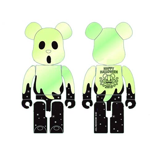 Happy Halloween 2015 400% Silver and Black Bearbrick Figure