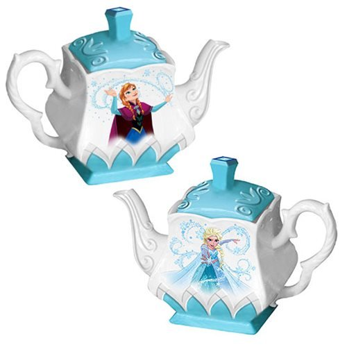 Frozen Elsa and Anna Ceramic Teapot