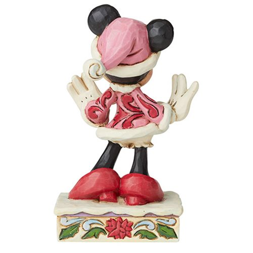Disney Traditions Minnie Mouse Christmas Personality Festive Fashionista by Jim Shore Statue