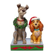 Disney Traditions Lady and the Tramp Christmas Statue by Jim Shore