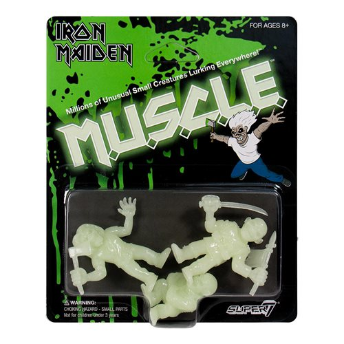 Iron Maiden M.U.S.C.L.E. Glow in the Dark Mini-Figures Set