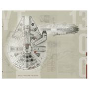 Star Wars Millennium Falcon Ultra-Strippable Prepasted Mural