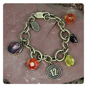 Hunger Games Movie Peeta District 12 Charm Bracelet
