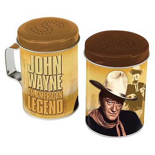 John Wayne Tin Salt and Pepper Shaker Set
