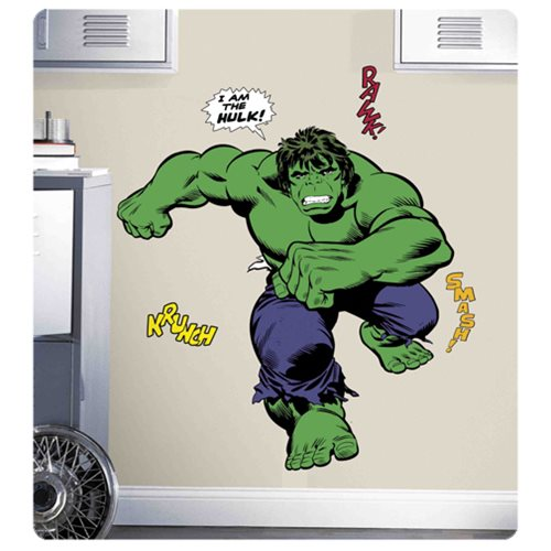 Hulk Classic Comic Peel and Stick Giant Wall Decals