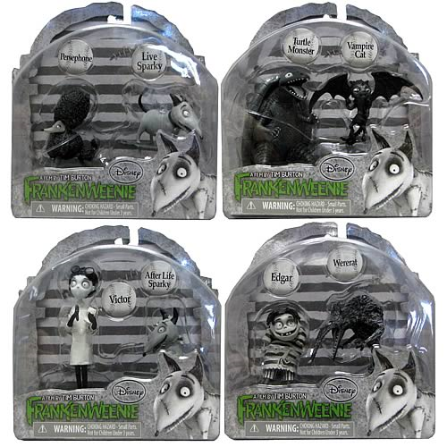 Frankenweenie Action Figure Collectible 2 Pack Half Case