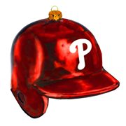 MLB Phillies 5-Inch Batting Helmet Glass Ornament