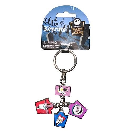 NBX Lock Shock and Barrel Dangle Pewter Key Chain