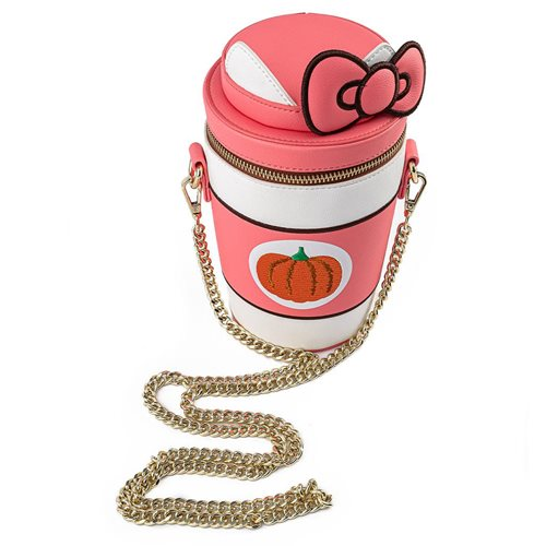 Sanrio Hello Kitty Pumpkin Spice Latte Wave Crossbody Purse
