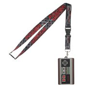 Nintendo NES Lanyard with Rubber ID Holder
