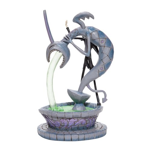 Disney Traditions Nightmare Before Christmas Jack Skellington on Fountain Statue by Jim Shore