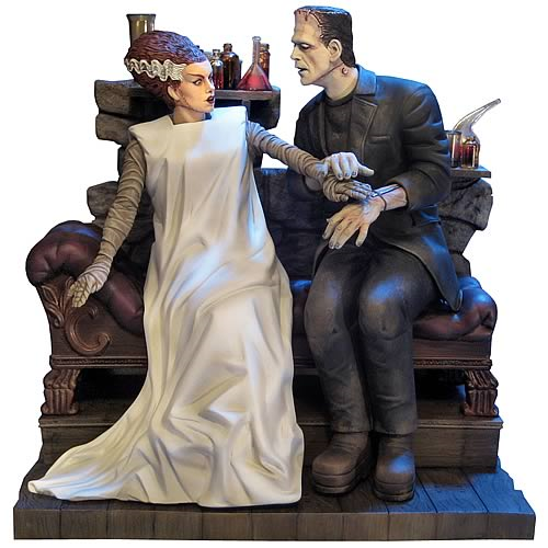 Bride of Frankenstein 2 Bride and Monster Model Kit