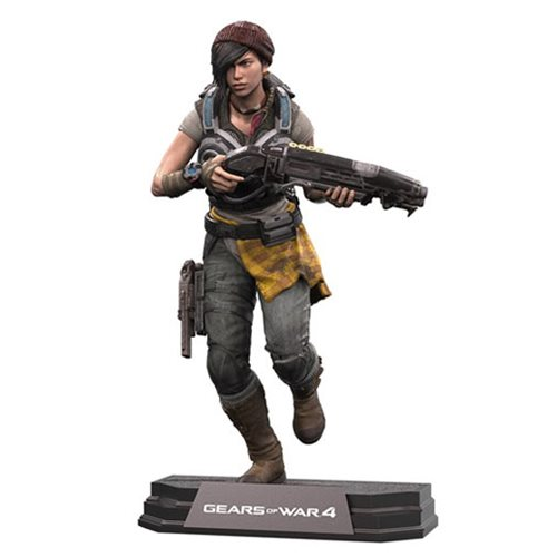 Gears of War 4 Kait Diaz 7-Inch Color Tops Blue Wave #13 Action Figure