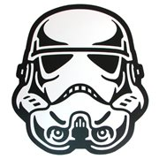 Star Wars Stormtrooper Face Die-Cut Wood Wall Art