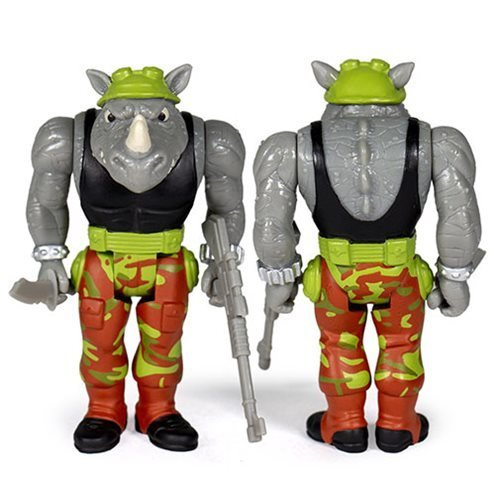Teenage Mutant Ninja Turtles Rocksteady 3  3/4-Inch ReAction Figure