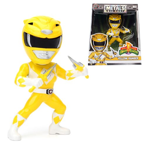 Power Rangers 4-Inch Yellow Ranger Metals Die-Cast Action Figure