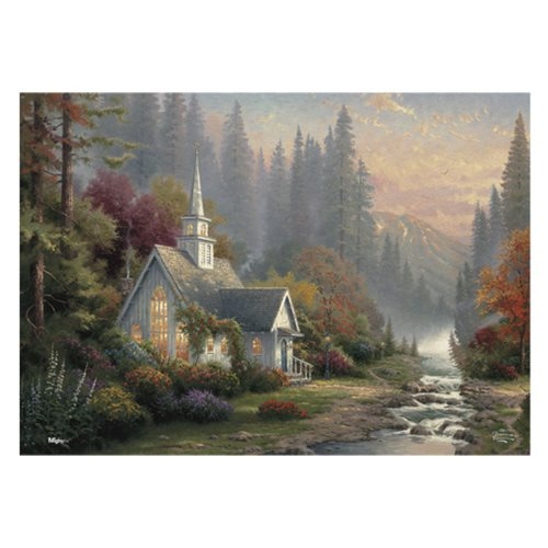 Thomas Kinkade The Forest Chapel MightyPrint Wall Art Print