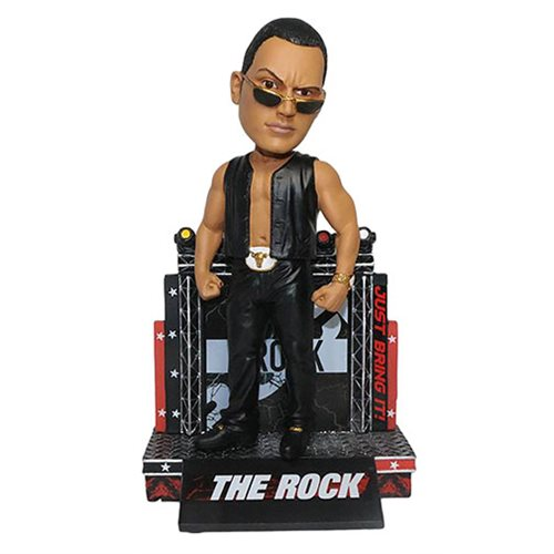 WWE The Rock Attitude Resin Bobble Head