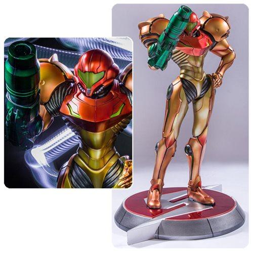 metroid prime samus varia suit 1 4 scale statue entertainment earth