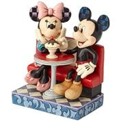 Disney Traditions Mickey Mouse and Minnie Mouse at Soda Shop Love Comes in Many Flavors by Jim Shore Statue