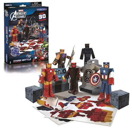 Avengers Hydra Battles Heroes Marvel Blueprints Papercraft