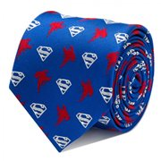 Superman Blue Italian Silk Tie