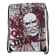 Attack on Titan Colossal Titan Red Drawstring Bag