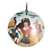 DC Bombshells DC Women StarFire Prints Hanging Glass Ornament