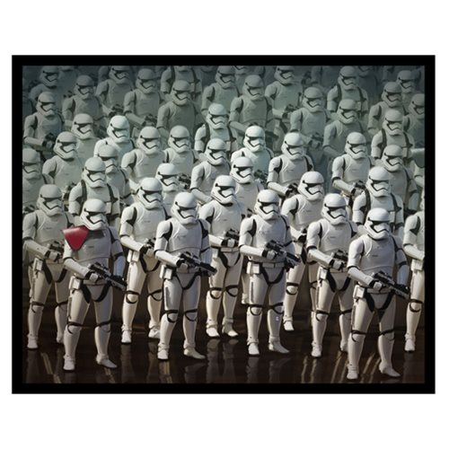 Star Wars Stormtrooper Army Rectangle Metallic Canvas Print