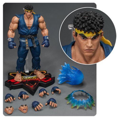 Street Fighter V Special Edition Blue Version Ryu 1:12 Scale Action Figure