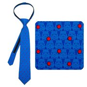 Star Wars Stormtrooper Dot Blue Boys Zipper Silk Tie