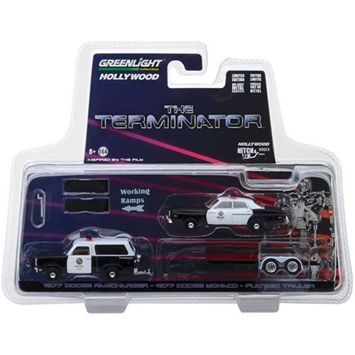 The Terminator 1984 Hitch & Tow Series 5 1977 Dodge Ramcharger with 1977  Dodge Monaco 1:64 Scale Die Cat Metal Vehicle