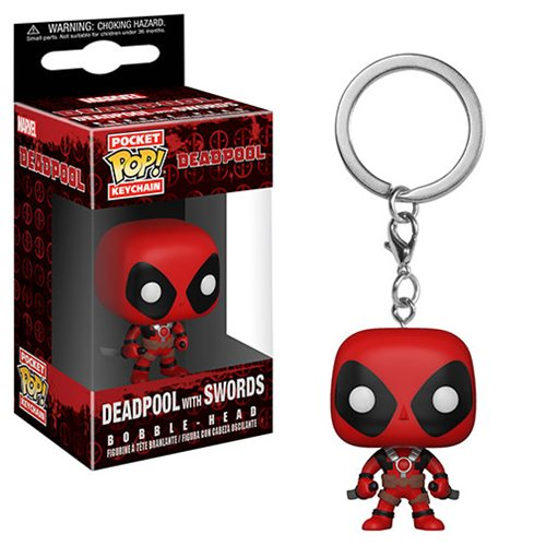 Deadpool Playtime Deadpool with Sword Pocket Pop! Key Chain