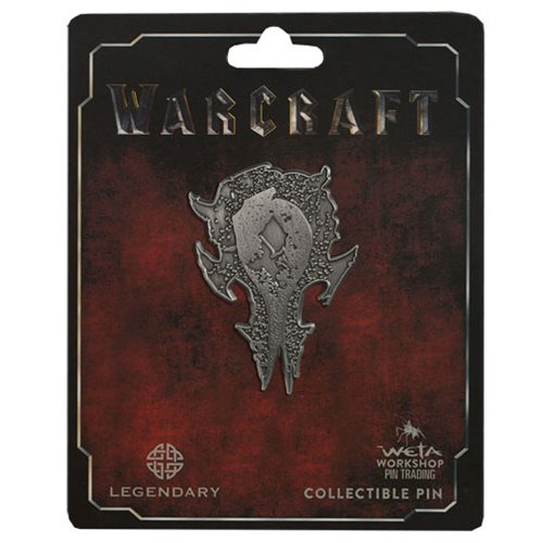 Warcraft Horde Distressed Silver Icon Pin