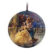 Disney Beauty and the Beast Dancing in the Moonlight Thomas Kinkade Starfire Prints Glass Ornament