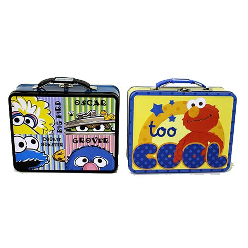 783c670d1bf8 Sesame Street Elmo Embossed Carry All Tin Lunch Box Set - Entertainment  Earth