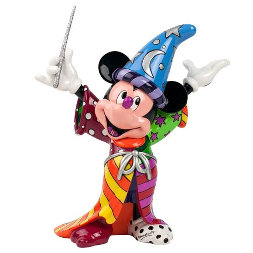 Disney Fantasia Sorcerer Mickey Mouse Statue by Romero Britto
