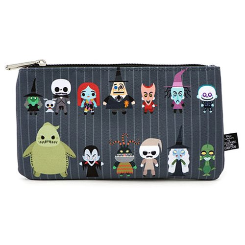 Nightmare Before Christmas Chibi Characters Zippered Pouch