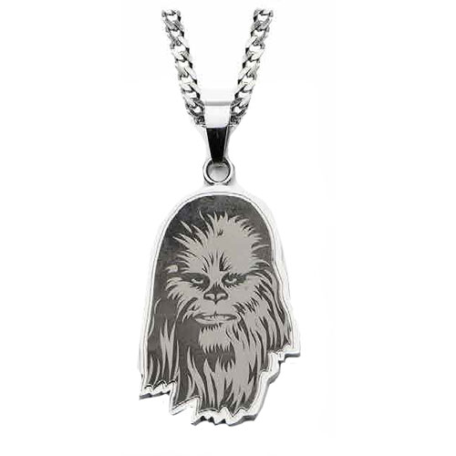Star Wars Chewbacca Etched Pendant Necklace