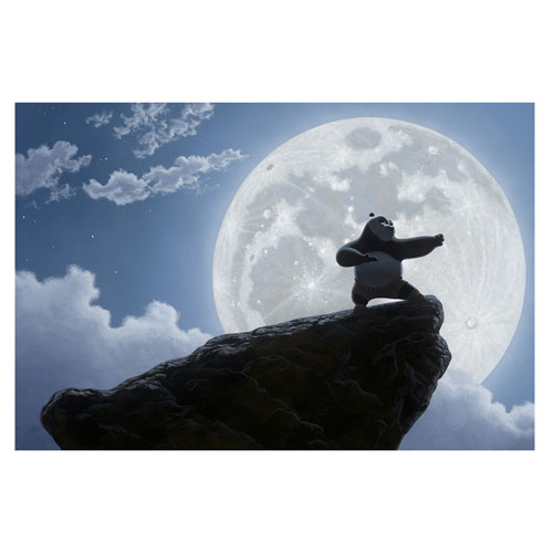 Kung Fu Panda Moonlight Warrior Large Canvas Giclee Print