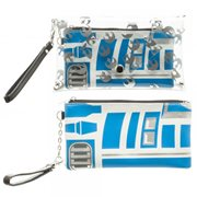 Star Wars R2-D2 Clear Envelope with Wristlet Clutch Purse